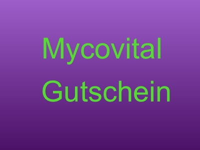 Mycovital Gutschein